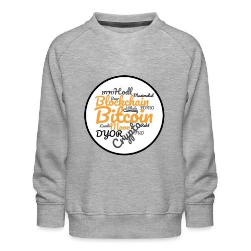 Bitcoin Tag Cloud - Kids' Premium Sweatshirt