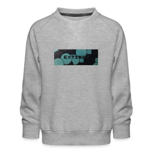 Extinct box logo - Kids' Premium Sweatshirt
