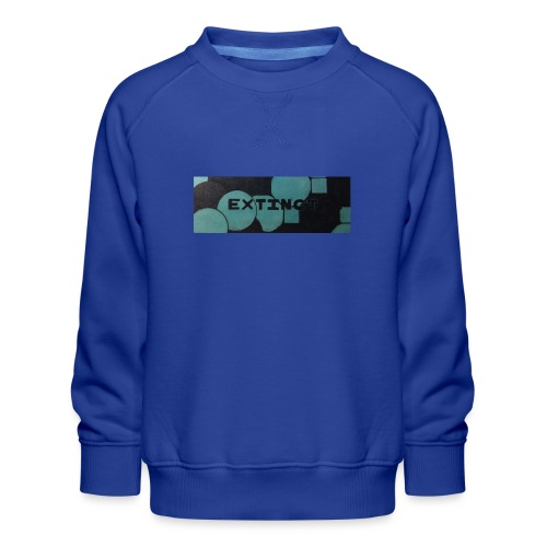 Extinct box logo - Kids' Premium Sweatshirt
