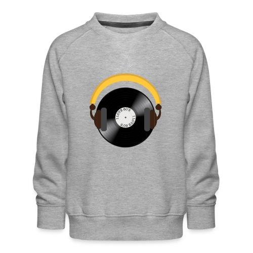 Retro Vinyl Record with headphone!. - Børne premium sweatshirt