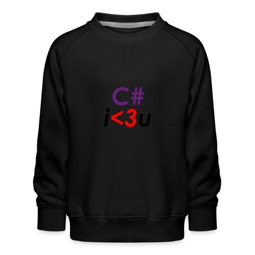 C# is love - Felpa premium da bambini