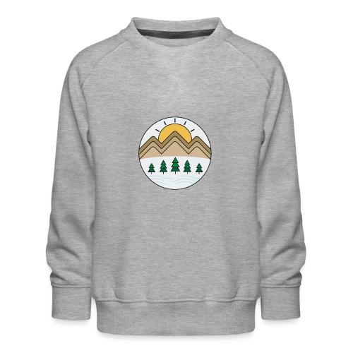 Zon achter de bergen - Kinderen premium sweater