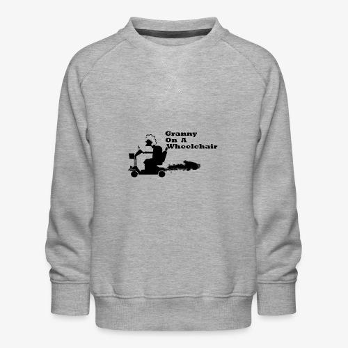 granny on a wheelchair - Kids' Premium Sweatshirt