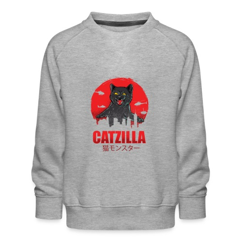 Catzilla Katzen Horror B-Movie Parodie - Kinder Premium Pullover