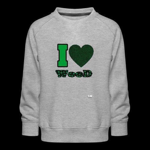 I Love weed - Sweat ras-du-cou Premium Enfant