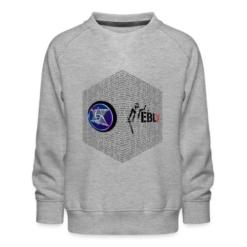 disen o dos canales cubo binario logos delante - Kids' Premium Sweatshirt