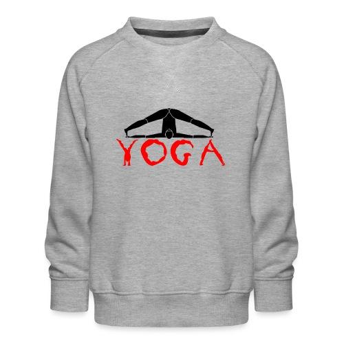yoga yogi nero pace amore namaste sport art - Felpa premium da bambini