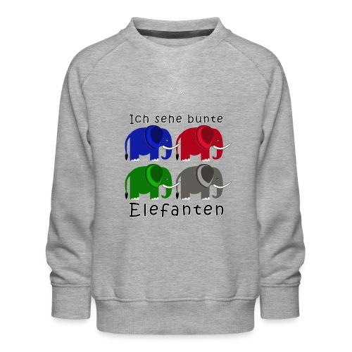 Ich sehe bunte ELEFANTEN - Kinder Premium Pullover