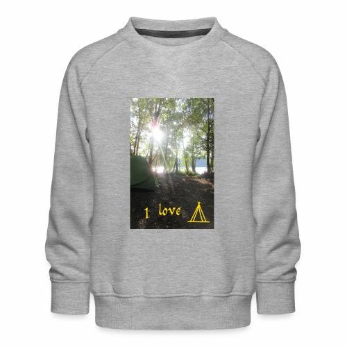 camping - Kinderen premium sweater