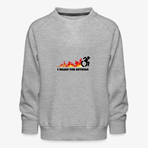 > Ik zal met mijn rolstoel nergens voor remmen - Kinderen premium sweater