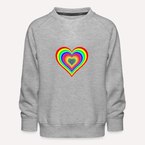 Heart In Hearts Print Design on T-shirt Apparel - Kids' Premium Sweatshirt