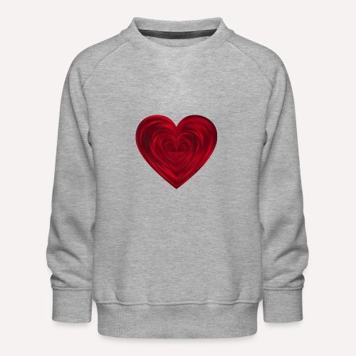 Love Heart Print T-shirt design - Kids' Premium Sweatshirt