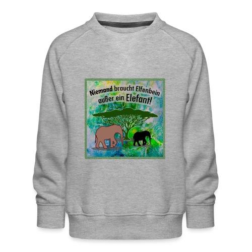 Niemand braucht Elfenbein - außer ein Elefant! - Kinder Premium Pullover