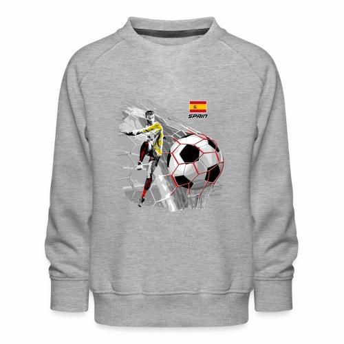 FP22F 02 SPAIN FOOTBALL - Lasten premium-collegepaita