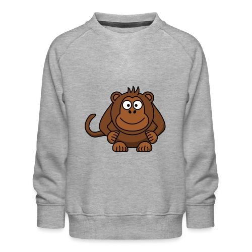 Monkey t-shirt - Børne premium sweatshirt