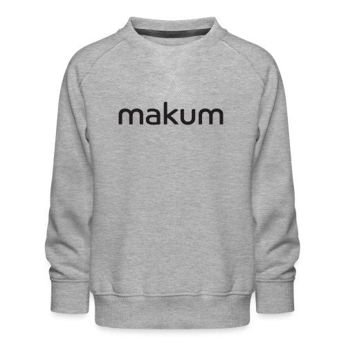 Makum teksti - Lasten premium-collegepaita