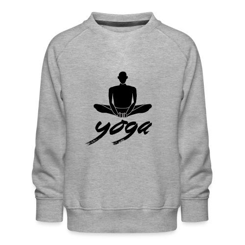yoga nero yogi namaste pace amore arte hippie - Felpa premium da bambini