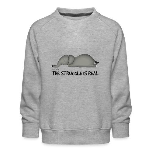Amy's 'Struggle' design (black txt) - Kids' Premium Sweatshirt