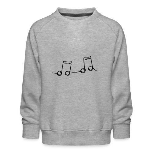 Muzikale bladmuziek muzieknoten patroon. Muziek - Kinderen premium sweater