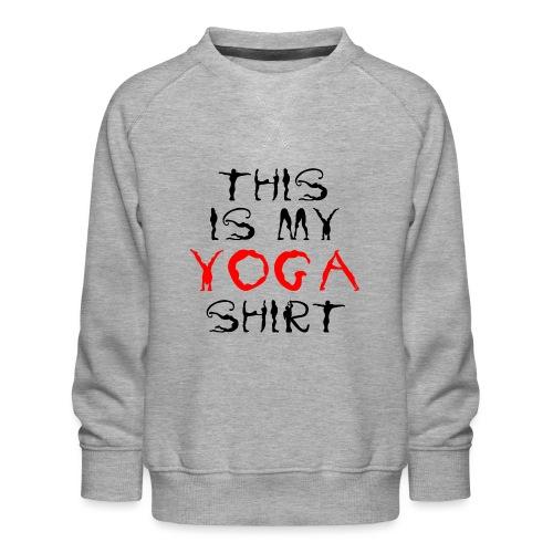 camicia yoga sport namaste spiritualità pace amore - Felpa premium da bambini