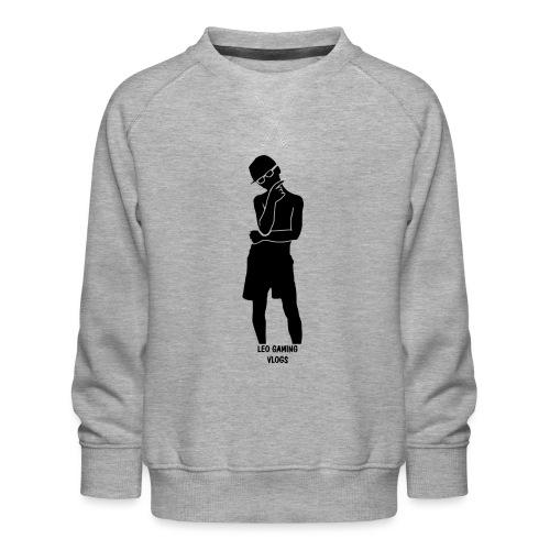 Leo Gaming Vlogs Silhouette - Kids' Premium Sweatshirt