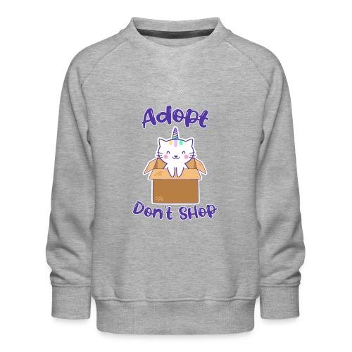 Adopt dont shop Tierheim Kinder Katzen Kitten - Kinder Premium Pullover