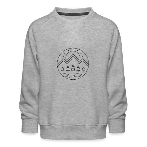 Avontuur in de bergen - zwart - Kinderen premium sweater