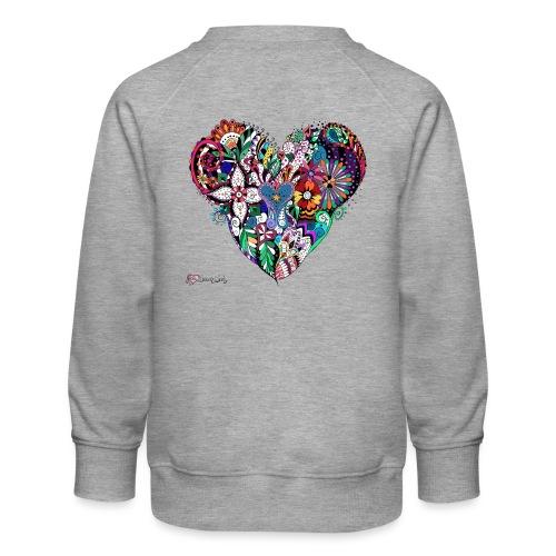 Mandala Herz bunt. - Kinder Premium Pullover