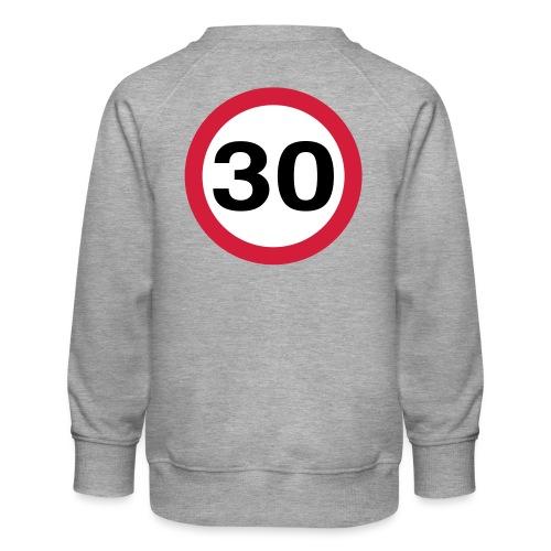 30mph Speed Limit Vector - choose design colours - Kids' Premium Sweatshirt