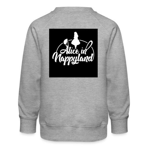 Alice in Nappyland TypographyWhite 1080 - Kids' Premium Sweatshirt