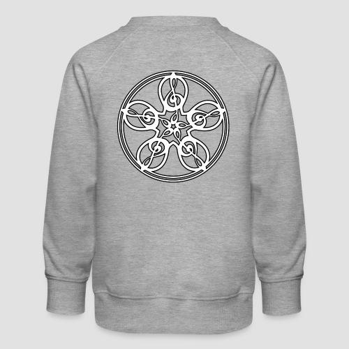 Treble Clef Mandala (white/black outline) - Kids' Premium Sweatshirt