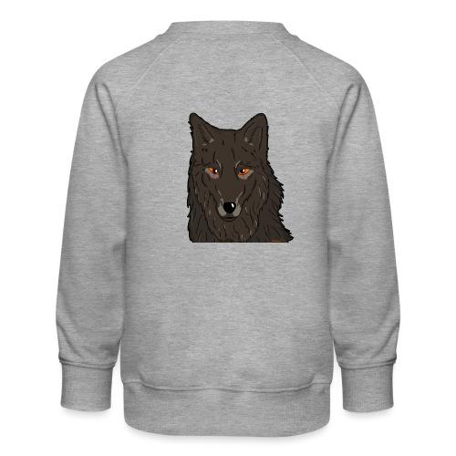 HikingMantis Wolf png - Børne premium sweatshirt
