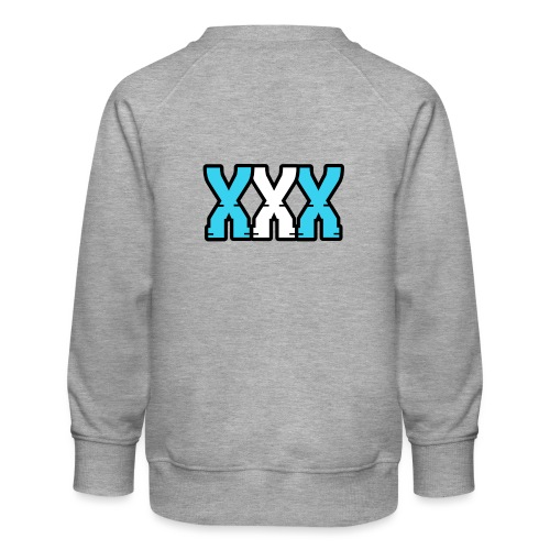 XXX (Blue + White) - Kids' Premium Sweatshirt