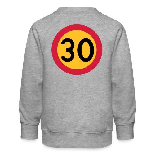 30 kph Road Sign Vector Design - Kids' Premium Sweatshirt