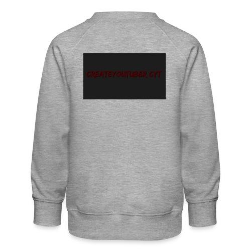 CreateYouTuber hoddie - Børne premium sweatshirt