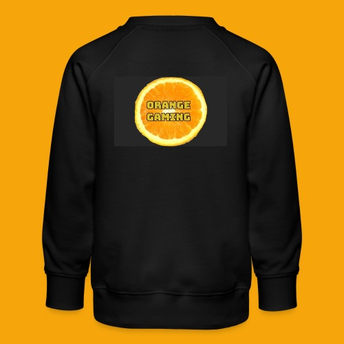 Orange_Logo_Black - Kids' Premium Sweatshirt