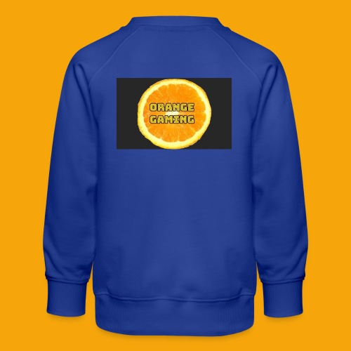 Orange_Logo_Black - Kids' Premium Sweatshirt