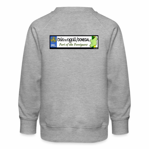 DONEGAL, IRELAND: licence plate tag style decal - Kids' Premium Sweatshirt