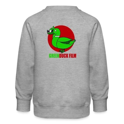 Greenduck Film Red Sun Logo - Børne premium sweatshirt