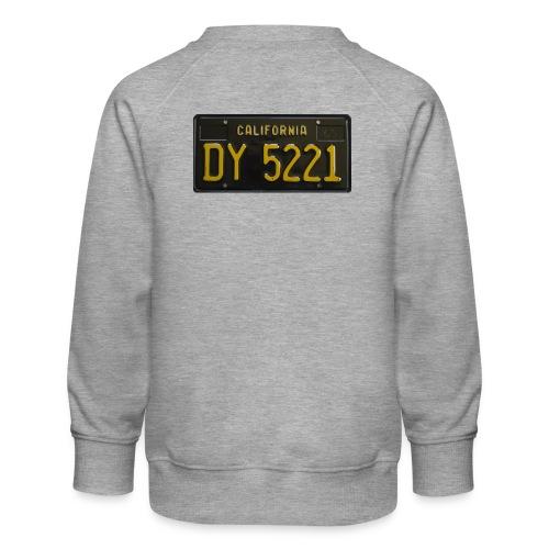 CALIFORNIA BLACK LICENCE PLATE - Kids' Premium Sweatshirt