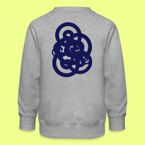espirales azul - Sudadera premium para niños y niñas