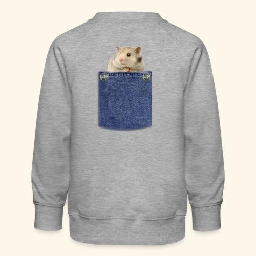 hamster in the poket - Felpa premium da bambini