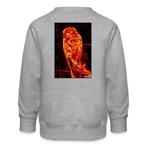 Bird in flames - Lasten premium-collegepaita