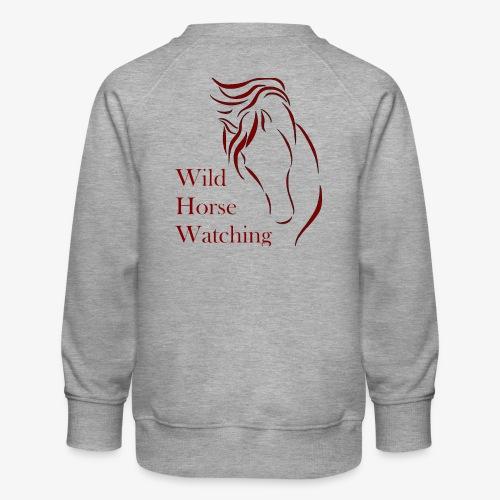 Logo Aveto Wild Horses - Felpa premium da bambini