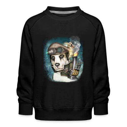 Steampunk Dog #2b - Felpa premium da bambini
