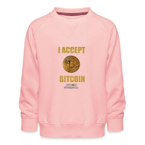 I accept bitcoin - Felpa premium da bambini