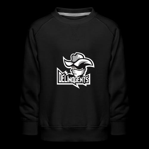 Delinquents Grå Design - Børne premium sweatshirt