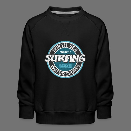 North Sea Surfing (oldstyle) - Børne premium sweatshirt