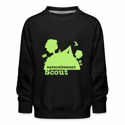 Naturellement Scout - Sweat ras-du-cou Premium Enfant