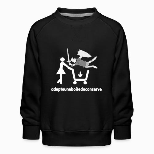 Tee Shirt Homme Bicolore adopteuneboitedeconserve - Sweat ras-du-cou Premium Enfant